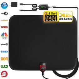 Amplified HD Digital TV Antenna Long 60-120 Miles Range –