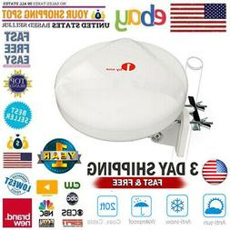 1Byone 100 Miles Range Outdoor TV Antenna Amplifier Digital