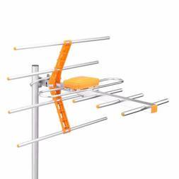 Outdoor 100Miles Amplified 8 Yagi Antenna HD TV 15dB Long Ra
