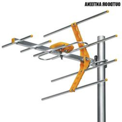Outdoor 100Miles Amplified Yagi Antenna HD TV 15dB Long Rang