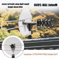 Outdoor Digital TV Antenna Aerial 150mile Amplified Long Ran