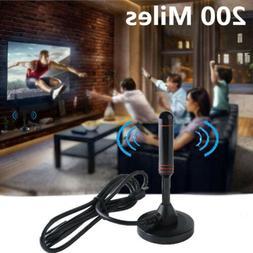 Indoor Digital TV Antenna 200 Miles Range HD 1080P Signal Bo