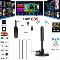 Outdoor/Indoor Amplified 1080p HD TV Antenna Skywire HDTV/VH