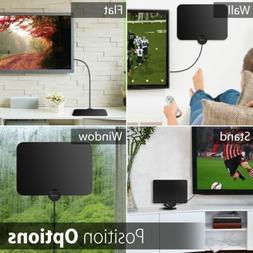 Portable HDTV Antenna Indoor 1080P 4K 100 Mile Ultra Thin TV