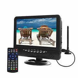 GJY 9.5-Inch Portable Widescreen TV, Built in Digital Tuner+