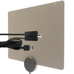 Mohu ReLeaf 50-Mile Indoor TV Antenna, Made with Recycled Ma