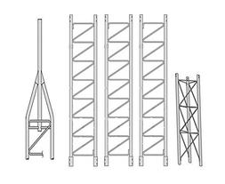ROHN 45SS040 45G Series 40' Self Supporting Tower Kit, No Ic