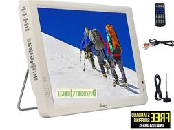 "Supersonic SC-2812 12"" Portable Lightweight LED TV w/Built i"