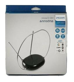Philips Rabbit Ears Black Indoor TV Antenna, Dipoles and Cir