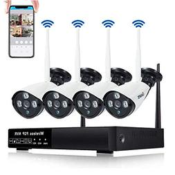 CANAVIS Security Camera System Wireless with Night Vision, M