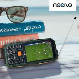 "Shockproof Mobile Phone 3.5"" Screen Antenna Analog TV Flashl"