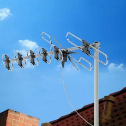 Leadzm TA-M2 200 Mile TV Antenna Digital Outdoor Amplified H