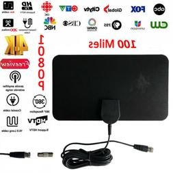 Thin Flat Antenna HD High Def TV Fox Scout HDTV DTV Sky Link