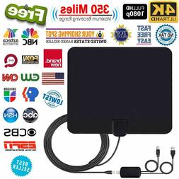 Thin Flat Antenna HD High Definition TV Fox HDTV DTV Scout T