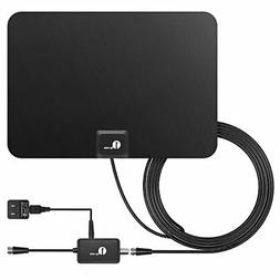 tv antenna 50 mile range amplified hdtv