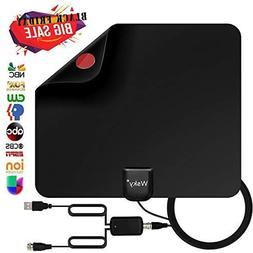 Wsky TV Antenna, 50-80 Long Miles Amplified HD Digital TV A