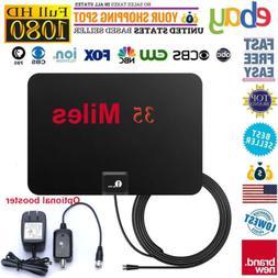 TV Antenna HD Indoor Digital Amplifier 35-Miles Signal For F