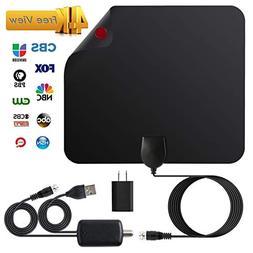JFONG TV Antenna, Indoor Digital Amplified HDTV Antennas 50-