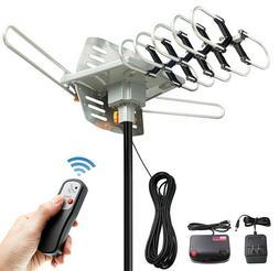 TV Antenna Kit Outdoor Motorized 360 Degree Rotation Remote