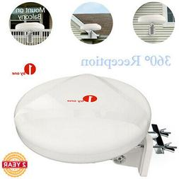 1byone TV Antenna Outdoor Omni-directional 360 Degree Recept