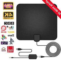 TV Antenna,  Indoor Digital HDTV Amplified Antennas Freeview