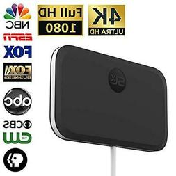 SLx TV Antenna Ultra Compact for Digital TV Indoor 4K HD wit