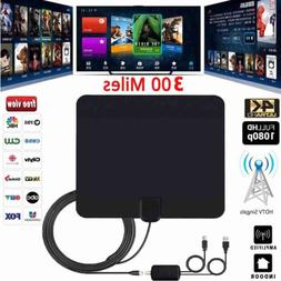 Ultra Thin Flat Indoor HDTV Amplified HD TV Signal Antenna 1