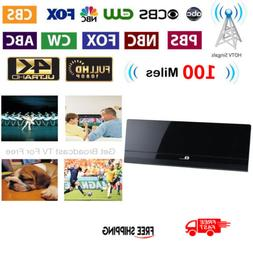 1byone Ultra Thin Flat TV Signal Antenna Indoor HDTV Amplifi