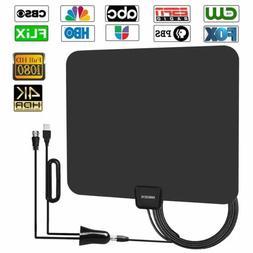 Digital Amplified HD TV Antenna 50-80 Mile Range - Support