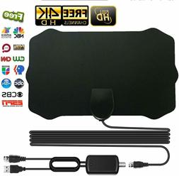 Upgraded TV Antenna with Amplifier Free Digital 1080P HDTV 4