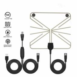 USB Indoor Digital Tv Antenna 50-100 Miles Range Signal 1080