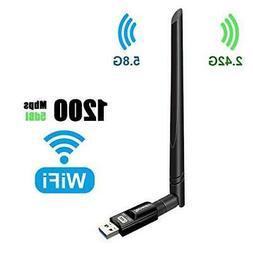 USB Wifi Adapter 1200Mbps TECHKEY USB 3.0 Wifi Dongle 802.11