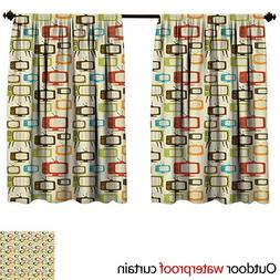 BlountDecor Vintagesun Block Outdoor Curtain W72 x L72 Old T