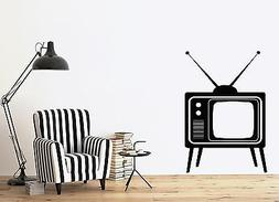 Wall Sticker Big Old TV Device with Antennas Home Vinyl Deca