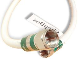 White Quad Shield RG-6 Coax Cable for -Long