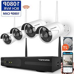 Wireless Security Camera System,SMONET 8CH 1080P IP Camera